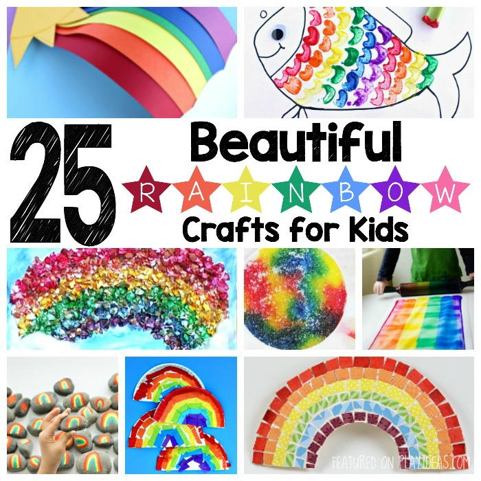 25 Beautiful Rainbow Crafts For Kids Featured