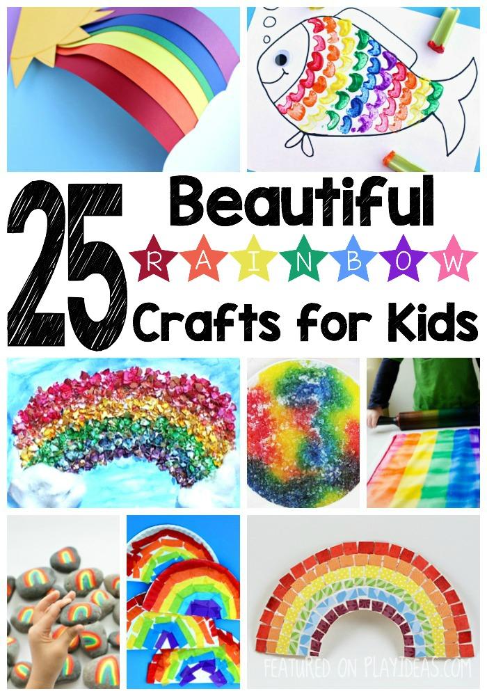 25 Beautiful Rainbow Crafts For Kids
