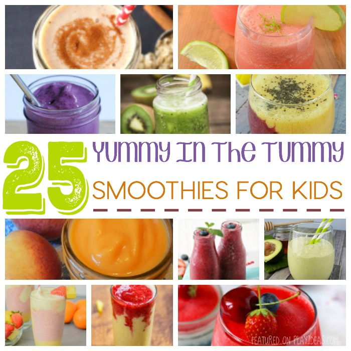 25 yummy in the tummy smoothies for kids Featured
