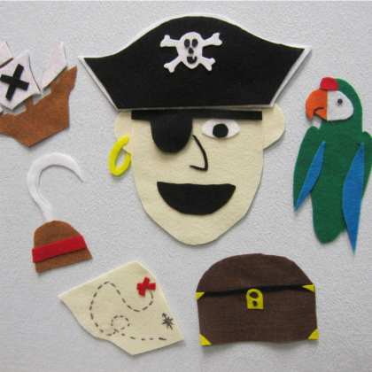 felt pirate play