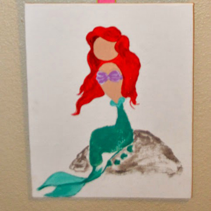 footprint mermaid princess