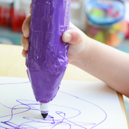 giant purple crayon