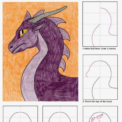 hand drawn dragon