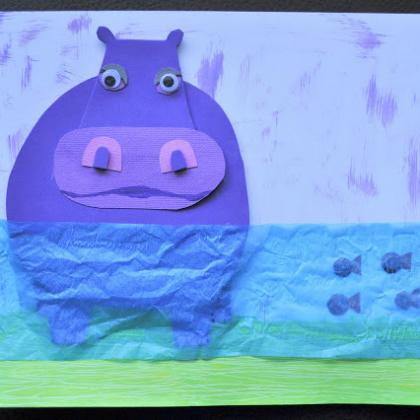 hippo collage