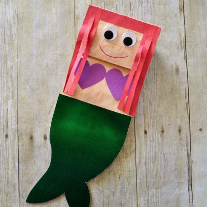 paper bag mermaid