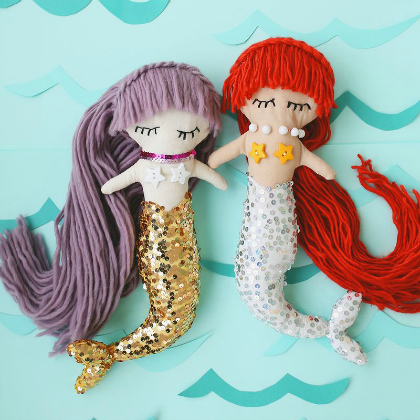 plush mermaids