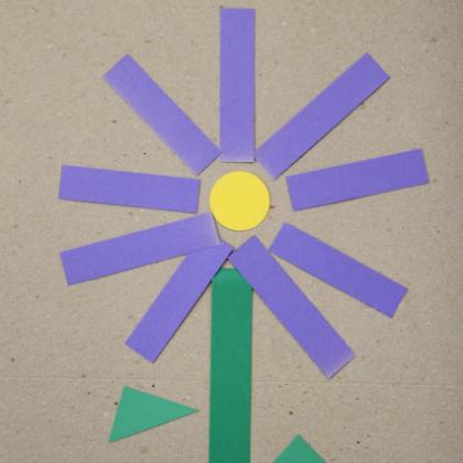 purple shape flower
