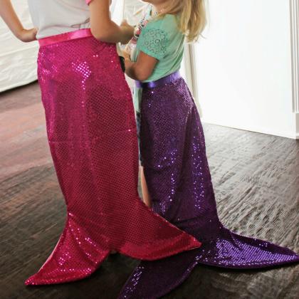 sewn mermaid tail