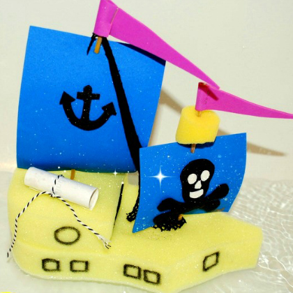 sponge pirate ship