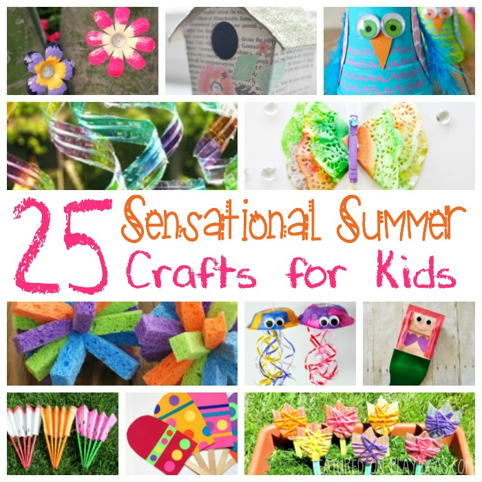 25 Sensational Summer Crafts for Kids Featured
