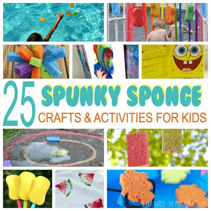 25 Spunky Sponge Crafts and Activities for Kids Featured
