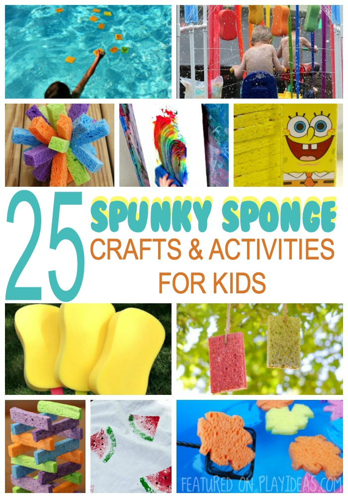 25 Spunky Sponge Crafts and Activities for Kids