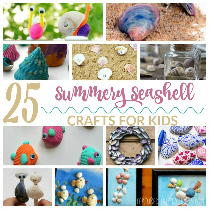 25 Summery Seashell Crafts For Kids FEATURED