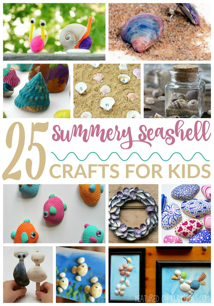 25 Summery Seashell Crafts For Kids