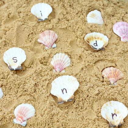 alphabet shells