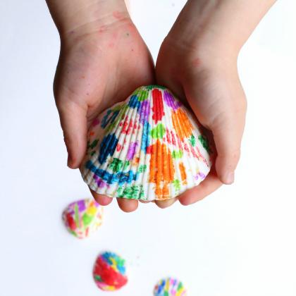 melted crayon shells