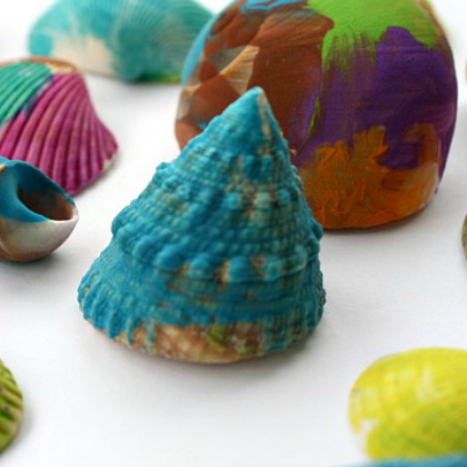 painted shells for preschoolers