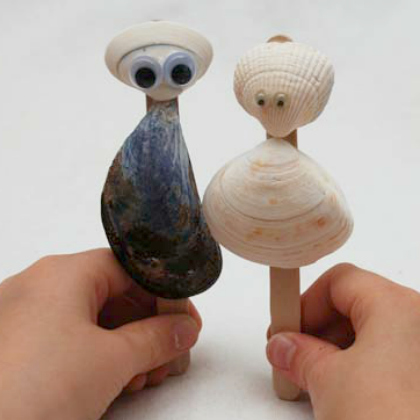 shell puppets