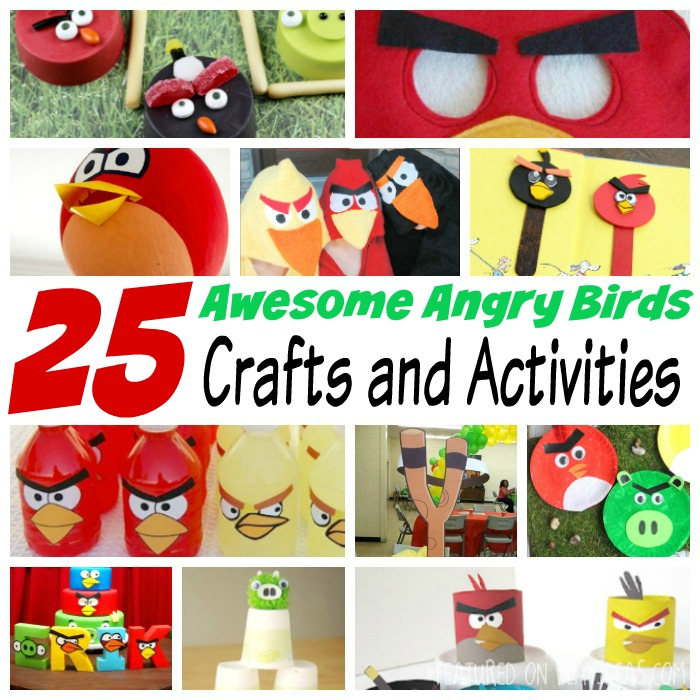 25 awesome angry bird crafts and activities featured