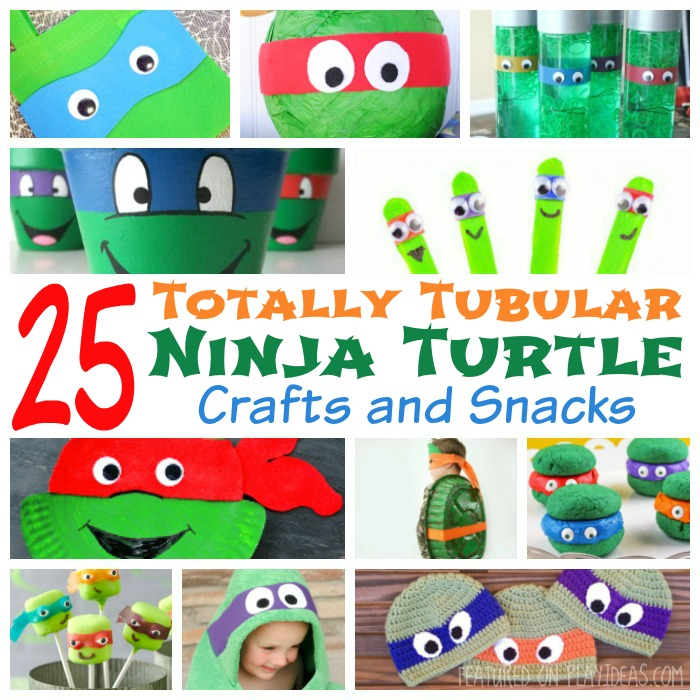 25 Totally Tubular Ninja Turtle Crafts and Snacks Featured