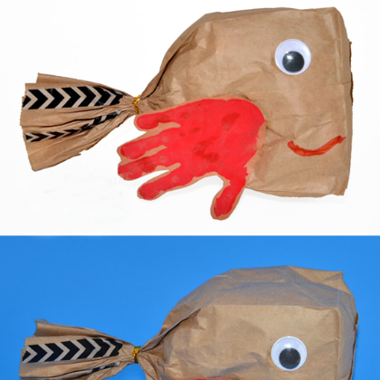 Handprint-Paper-Bag-Fish-Craft