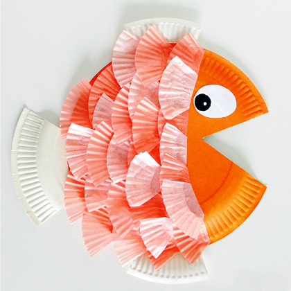 Paper-Plate-and-Cupcake-Liner-Fish-Craft