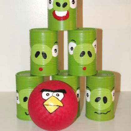angry bird tin can