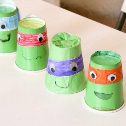 paper cup turtles