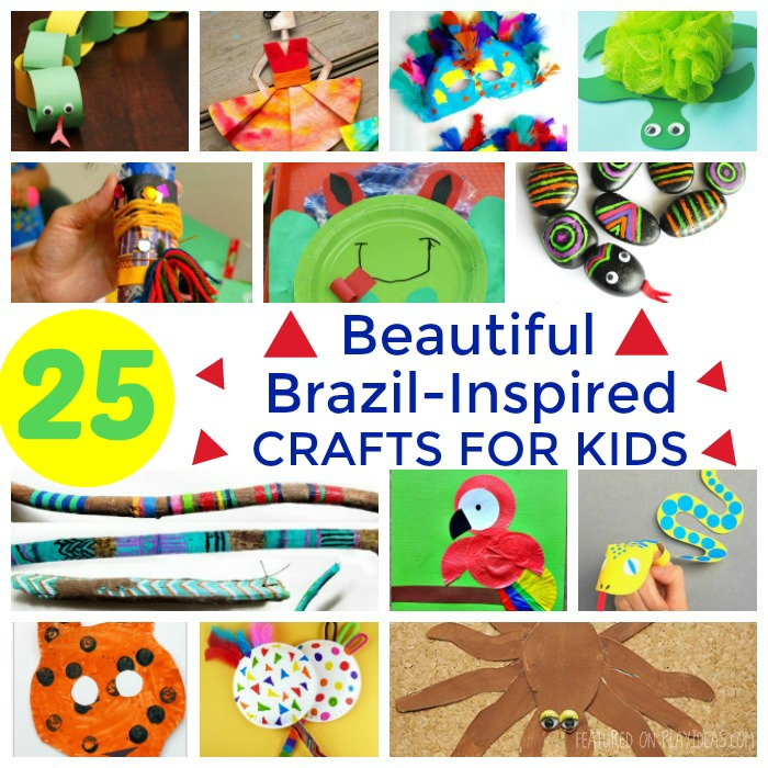 25 Beautiful Brazil-Inspired Crafts For Kids Featured
