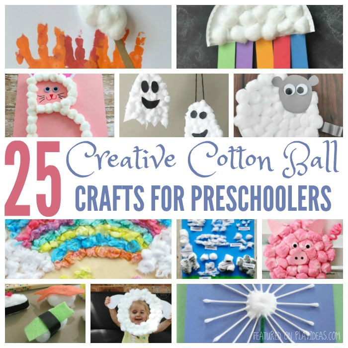 25 Creative Cotton Ball Crafts For Preschoolers Featured