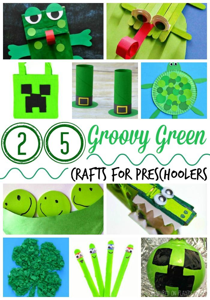 25 Groovy Green Crafts For Preschoolers
