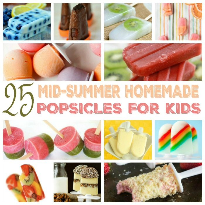 25 Mid-Summer Homemade Popsicles For Kids Featured