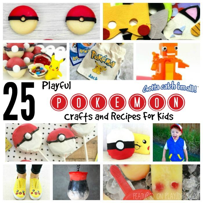 25 Playful Pokemon Crafts and Recipes Featured
