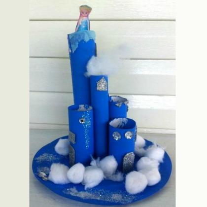 Elsa's castle frozen