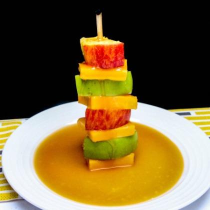 caramel apple kabob