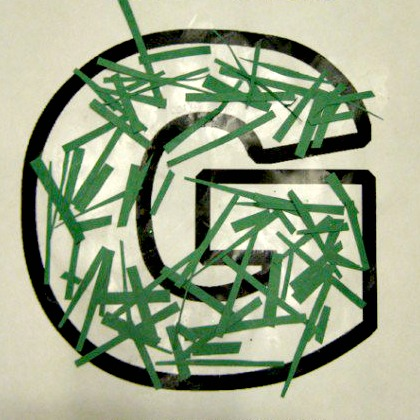g is for green grass