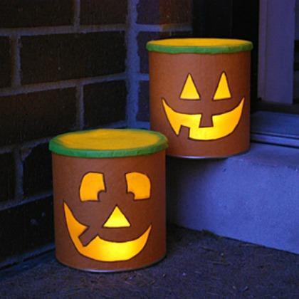 jack-o-lantern cans
