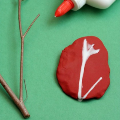 make a fossil from glue