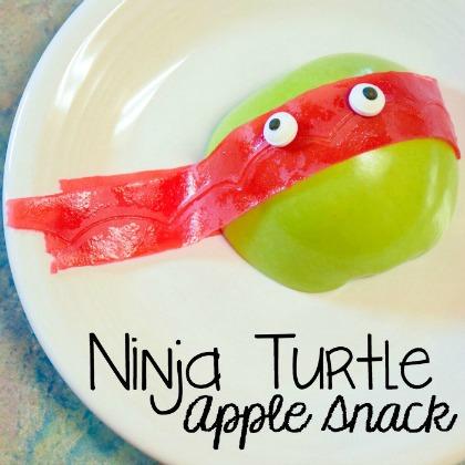 ninja turtle apple snack