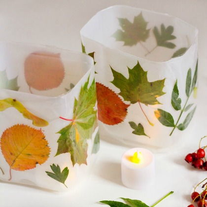 no glue leaf luminaries
