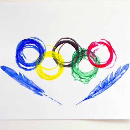 olympic circles and feathers