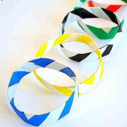 olympic origami bracelets
