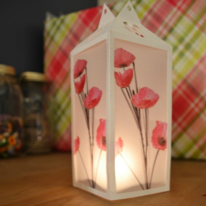 paper flower luminary