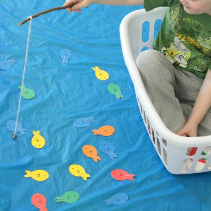 pretend fishing alphabet game