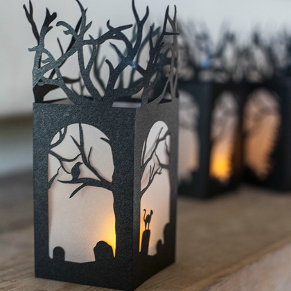 spooky paper luminaries