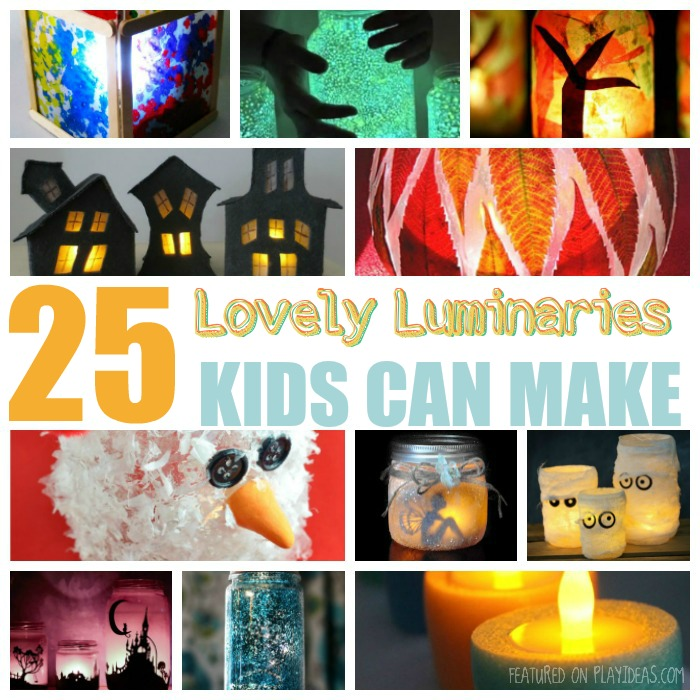 25 Lovely Luminaries Kids Can Make Featured