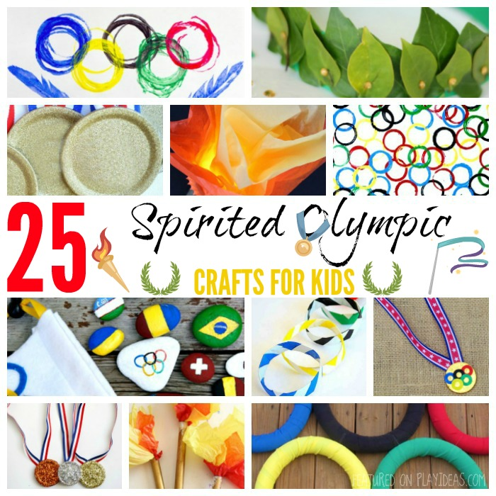 25 Spirited Olympics Crafts For Kids Featured