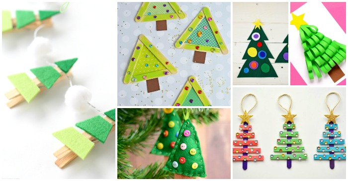 Christmas Tree Craft.25 Christmas Tree Crafts For Kids