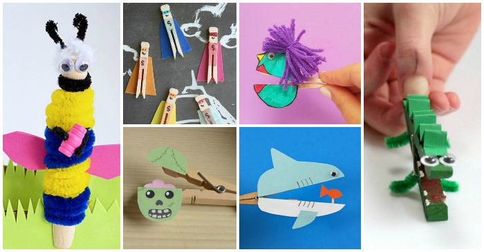 25 Super Cute Clothespin Crafts For Kids