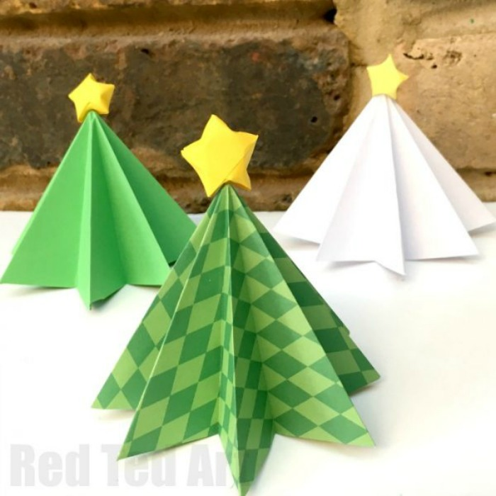 Christmas Tree Making Crafts On Facebook Using Loops